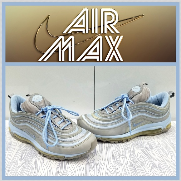 AIR MAX 97 WMN'S SIZE 9.5 METALLIC SILVERICE BLUE